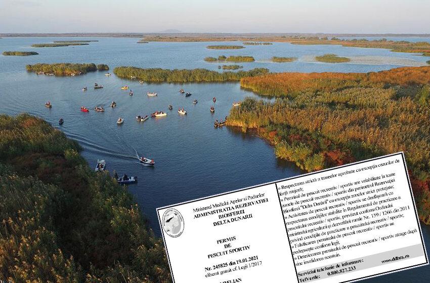 Informatii Permis de pescuit sportiv in Delta Dunarii ARBDD 2021!